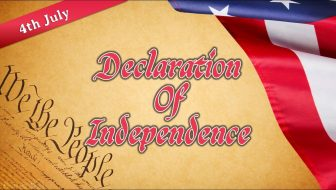 USA Declaration of Independence Free PowerPoint Template