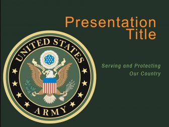 US Army Free PowerPoint Template