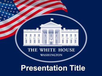 White House and Flag of The USA Free PowerPoint Template