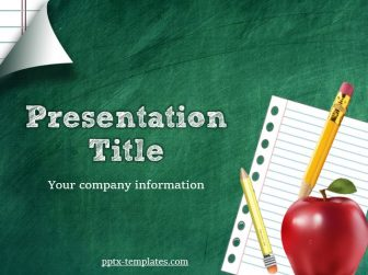 Green School Board Free PowerPoint Template