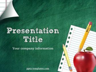 Green School Board Free PowerPoint Template