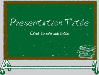 Back to school – blackboard Free PowerPoint Template