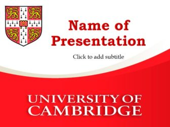 Cambridge University Free PowerPoint Template