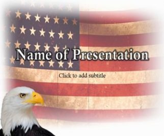 America Flag And Eagle Americana Free PowerPoint Template