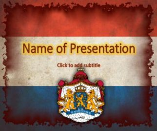 Netherlands flag Free PowerPoint Template