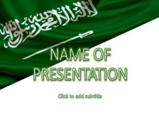 Saudi Arabia Flag Free PowerPoint Template