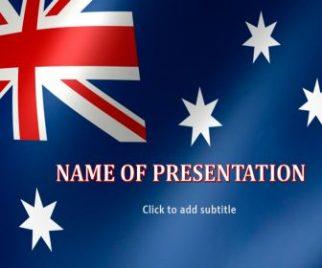 Australia Flag Free PowerPoint Template