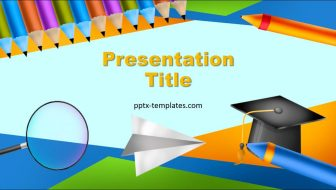 Crayons Free PowerPoint Template