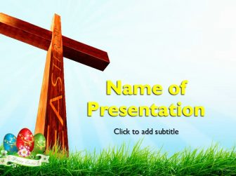 Easter & Cross Free PowerPoint Template