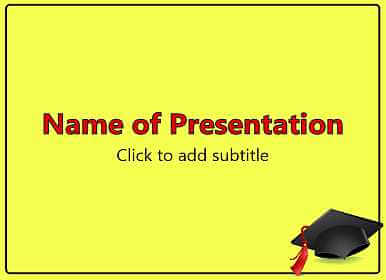 Graduate school Free PowerPoint Template