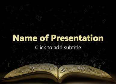 Open book Free PowerPoint Template