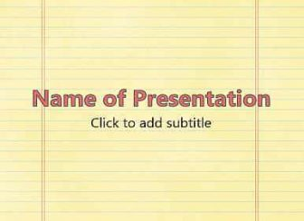 Notebook Free PowerPoint Template