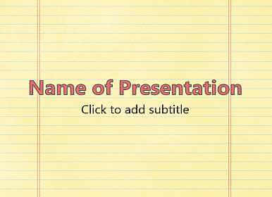 notebook education powerpoint templates free download