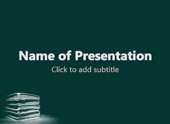 Pile of Books Free PowerPoint Template