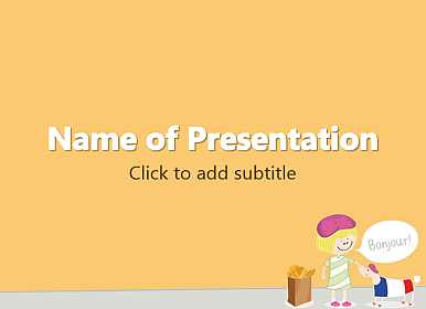 French Free PowerPoint Template