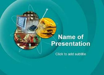 Science and technologies Free PowerPoint Template