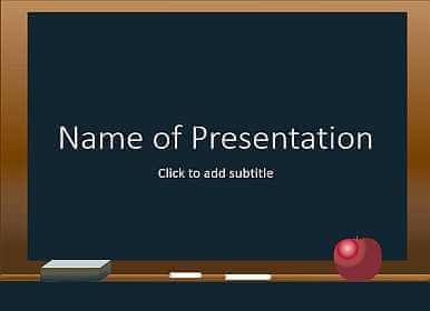 School board Free PowerPoint Template