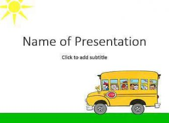 School bus Free PowerPoint Template