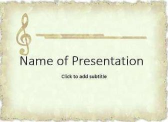Notes and music Free PowerPoint Template
