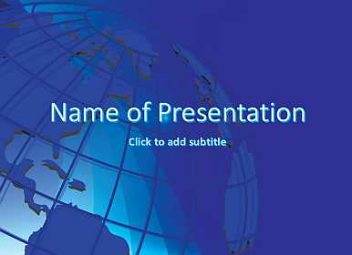 Earth Free PowerPoint Template