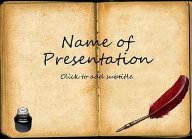 old book free template for presentation powerpoint