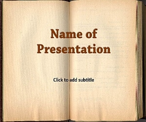 Old Book Original Education Template For Presentation