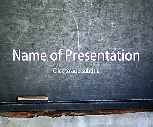 School WordPad Free PowerPoint Template