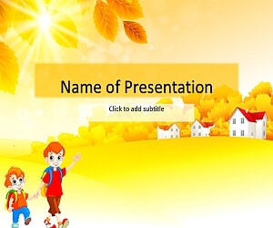 The first day of school Free PowerPoint Template