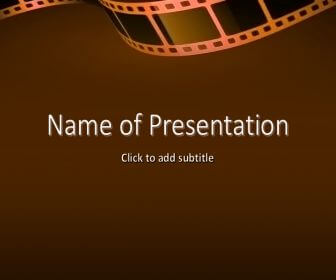 Filmstrip Free PowerPoint Template