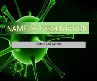 Virus Green Powerpoint Template Free Download