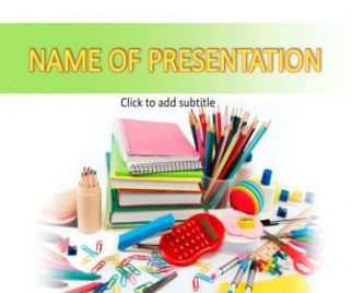 Back To School Stationery Free PowerPoint Template