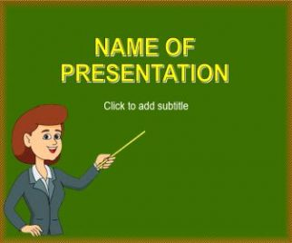 Teacher Free PowerPoint Template