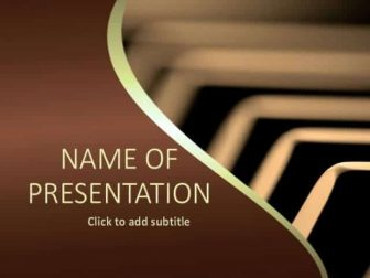 Piano Free PowerPoint Template