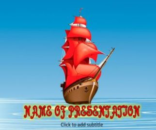 Old Ship Free PowerPoint Template
