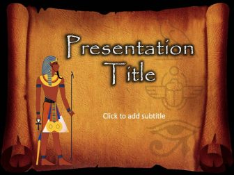 Ancient Egypt Free PowerPoint Template