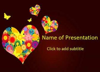 Floral heart Free PowerPoint Template