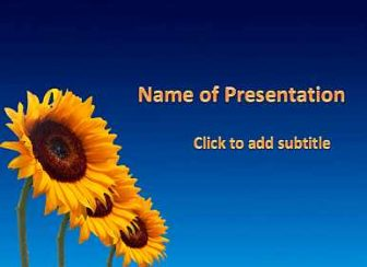 Sunflowers Free PowerPoint Template