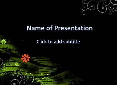 Dark background and flowers Free PowerPoint Template
