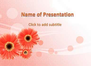 Gerbera Free PowerPoint Template