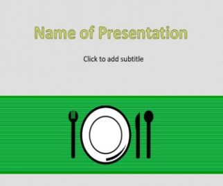 Dinner Table Free PowerPoint Template