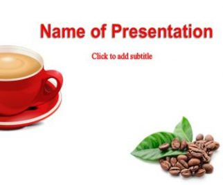 Coffee Grains near a Cup Free PowerPoint Template
