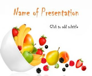 Fresh Fruits Free PowerPoint Template