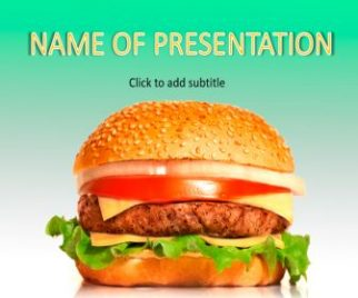Fast Food, burger Free PowerPoint Template