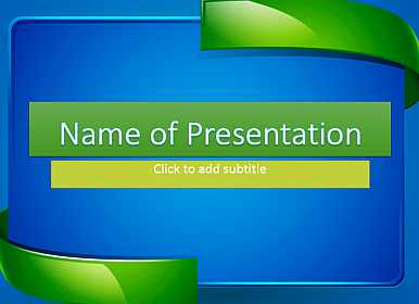 Abstract Frame Free PowerPoint Template