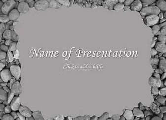 Stones Free PowerPoint Template