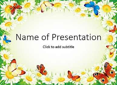 Floral frame Free PowerPoint Template