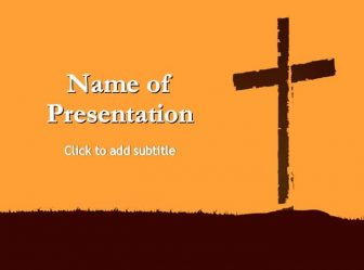 Good Friday, Power Of The Cross Free PowerPoint Template