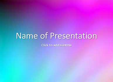 Blue and pink Free PowerPoint Template