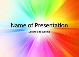 Varicolored Free PowerPoint Template