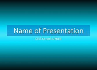 Darkly blue Free PowerPoint Template